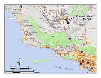 Mountain View Oil Field - The Mountain View Oil Field in central California. Other oil fields are shown in dark gray.