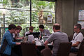 Mozilla development in the Garden Room during Wikimania 2014.jpg