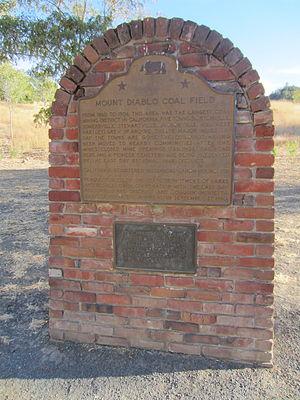 Black Diamond Mines Regional Preserve - Historic marker for Mt. Diablo coal field