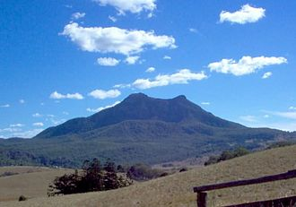Mount Barney National Park - Mount Maroon is one of five peaks in the park, 1994