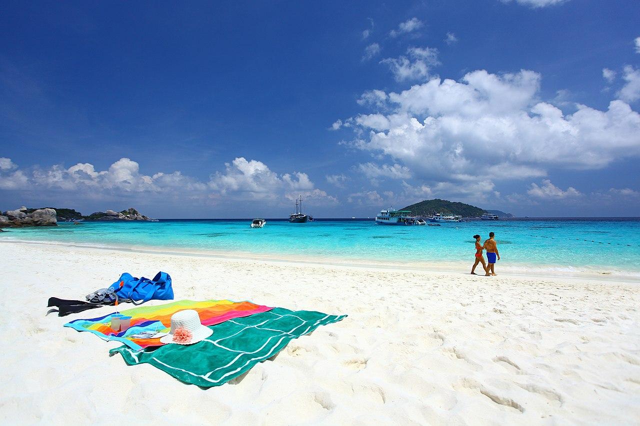 thailand khao lak white sand beach