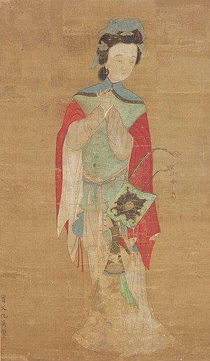 Hua Mulan - Painting of Hua Mulan, 18th century, housed in the British Museum