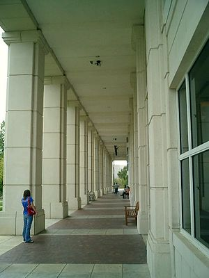 Campus of the University of Arkansas - East Entrance to Mullins