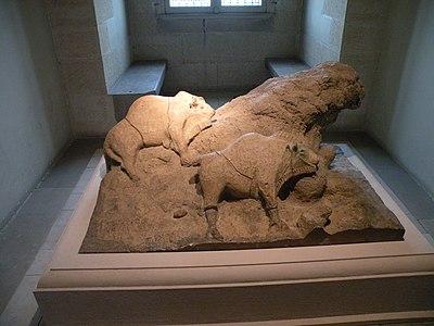 Musée des Antiquités Nationales - bisons Tuc d'Audoubert - 2015