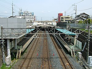 Higashi-Urawa Station - Overview of the platforms, April 2007