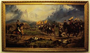 Colombian literature - The republic forces defeated the Spanish Empire in the Battle of Boyacá