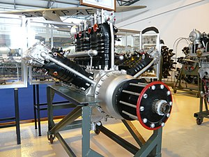 Lorraine 12E Courlis - Image: Museu do Ar Lorraine Dietrich 12Eb 450cv W 12 engine(2948374339)