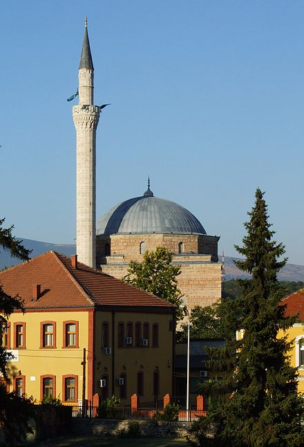 The 15th-century Mustafa Pasha Mosque.