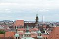 Nürnberg, Blick von der Burg auf St. Lorenz und Rathaus, 003.jpg