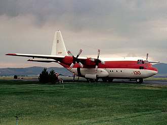 2002 United States airtanker crashes - Image: N130HP Tanker 130