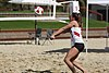NCAA beach volleyball match at Stanford in 2017 (33391455626).jpg