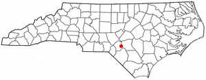 Rockfish, North Carolina - Image: NC Map doton Rockfish