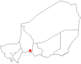 Madaoua - Location of Madaoua in the Regions of Niger