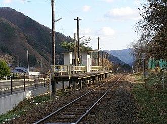 Nakasato Station (Iwate) - Nakasato Station, January 2007