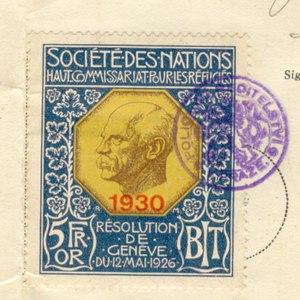 Nansen International Office for Refugees - Image: Nansen cs stamp