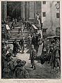 Naples Hospital, Naples, Italy; soldiers being taken into ho Wellcome V0013978.jpg
