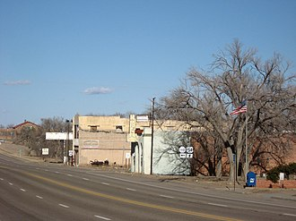 Nara Visa, New Mexico - Looking east along U.S. Route 54 in 2008