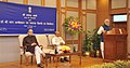 Narendra Modi addressing at the release of the commemorative coins on Dr. B.R. Ambedkar, in New Delhi. The Union Minister for Finance, Corporate Affairs and Information & Broadcasting.jpg