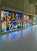 Narthex window 'Jubilation', by Henry Haig, Clifton Cathedral