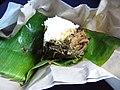 Nasi bungkus opened.JPG