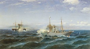 "Naval battle between ""Vesta"" and ""Fetkh-i Bulend"" at the Black Sea, July 11, 1877.jpg"