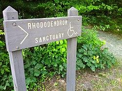 Nehantic Trail - Rhododentron Sanctuary Trail entrance sign.jpg