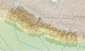 Map showing the location of Langtang National Park