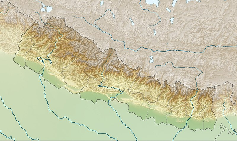 map of nepal with districts. UN map of VDC boundaries,
