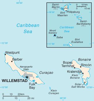 Netherlands Antilles-CIA WFB Map