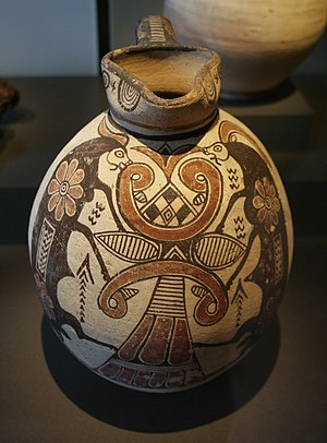 Ancient history of Cyprus - Jug with Scenic Decoration, Cyprus, 800–600 BC, Neues Museum, Berlin