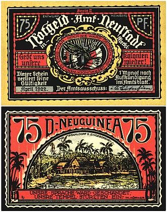 German New Guinea - Image: Neustadt Neuguinea 1922