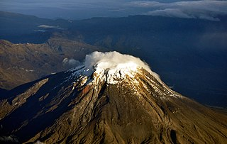 Nevado del Tolima volcano located in the Central Andes of Colombia