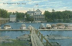 New Meadows Inn, New Meadows River, 1915