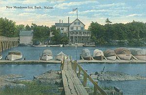 West Bath, Maine - New Meadows Inn, New Meadows River, 1915