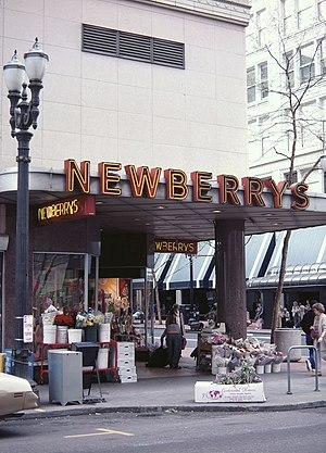 J.J. Newberry - A 1988 photo of a Newberry's store in Portland, Oregon
