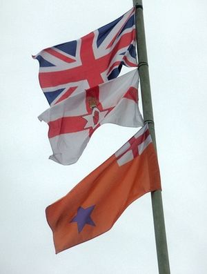 Ulster loyalism - The Union Flag, Ulster Banner and Orange Order flags are often flown by loyalists in Northern Ireland