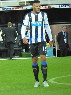 Jamaal Lascelles - Lascelles in a League Cup match against Sheffield Wednesday September 2015