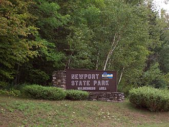 Newport State Park - Image: Newport State Park Sign