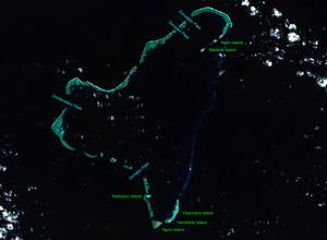 Ngulu Atoll - NASA picture of Ngulu Atoll