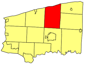 Newfane, New York - Location within Niagara County.