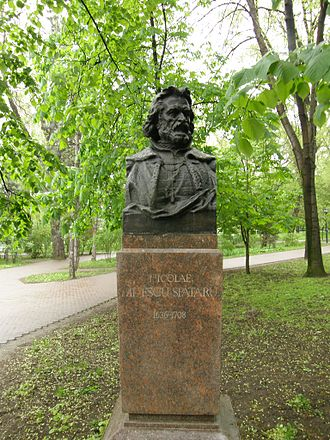 Nikolai Spathari - A bust of Nicolae Milescu in the Alley of Classics of Chișinău