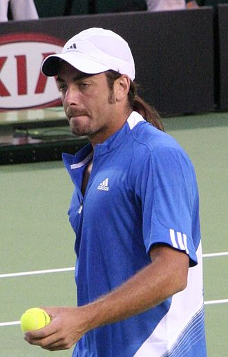 Tennis at the 2008 Summer Olympics - Nicolás Massú from Chile, who was the defending champion.