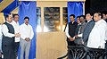 "Nitin Gadkari unveiled the plaque of ""Fifth Oil Berth, Bunkering Facility at Berth no. 2, Jawahar Deep and Infrastructure Facility for Ro - Ro Pax Service, at New Ferry Wharf (Bhaucha Dhakka), in Mumbai.jpg"