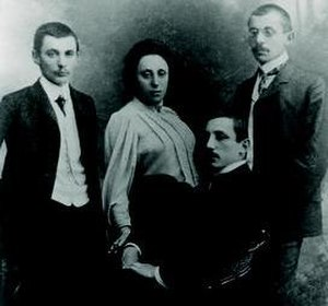 Emmy Noether - Emmy Noether with her brothers Alfred, Fritz, and Robert, before 1918