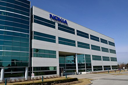 Nokia office building in Markham, Ontario, Canada in 2016 - originally Alcatel-Lucent's office NokiaBuilding4.jpg