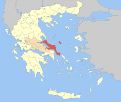 Euboea within Greece
