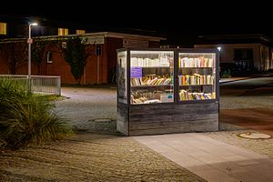 Public bookcase - Bookcase at Onnen-Visser-Platz, Norderney, Lower Saxony, Germany