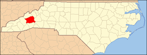 Locator Map of Buncombe County, North Carolina...