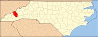 North Carolina Map Highlighting Haywood County.PNG