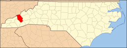 North Carolina Map Highlighting Haywood County.PNG
